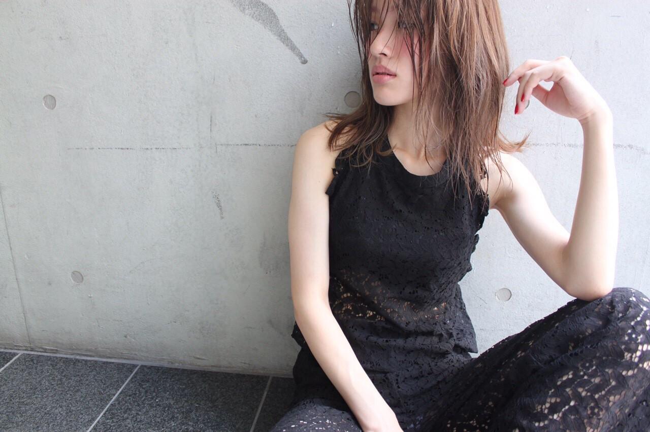 色気 ボブ ニュアンス ナチュラル ヘアスタイルや髪型の写真・画像   chiaki /