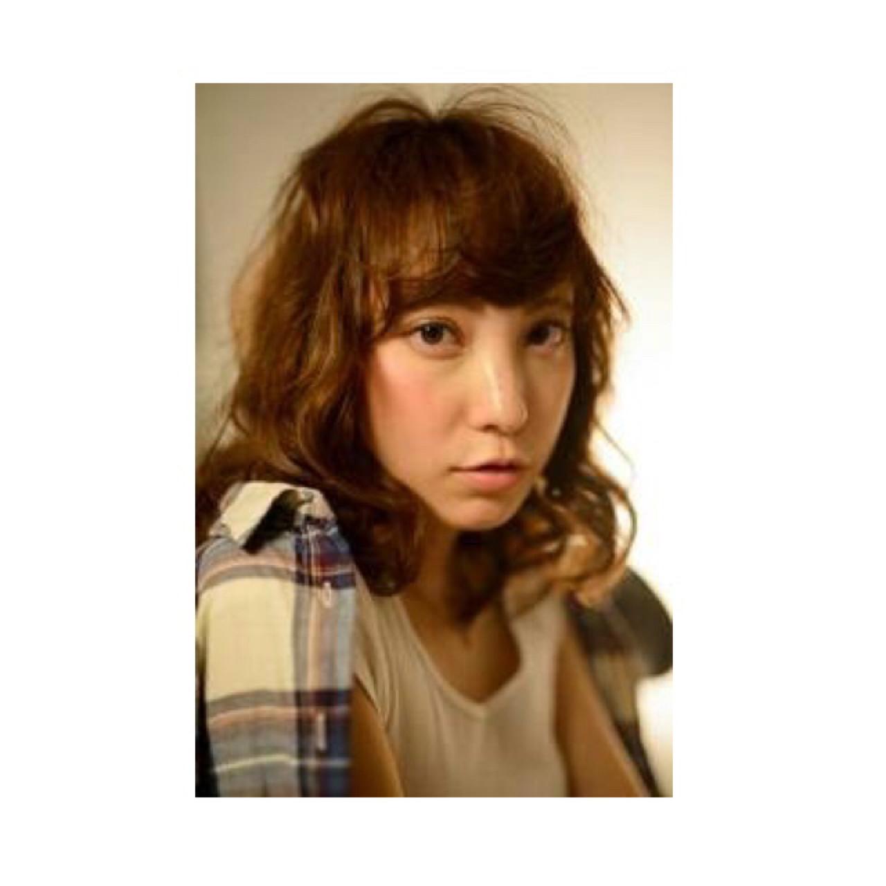 ストリート ゆるふわ おフェロ ミディアムヘアスタイルや髪型の写真・画像