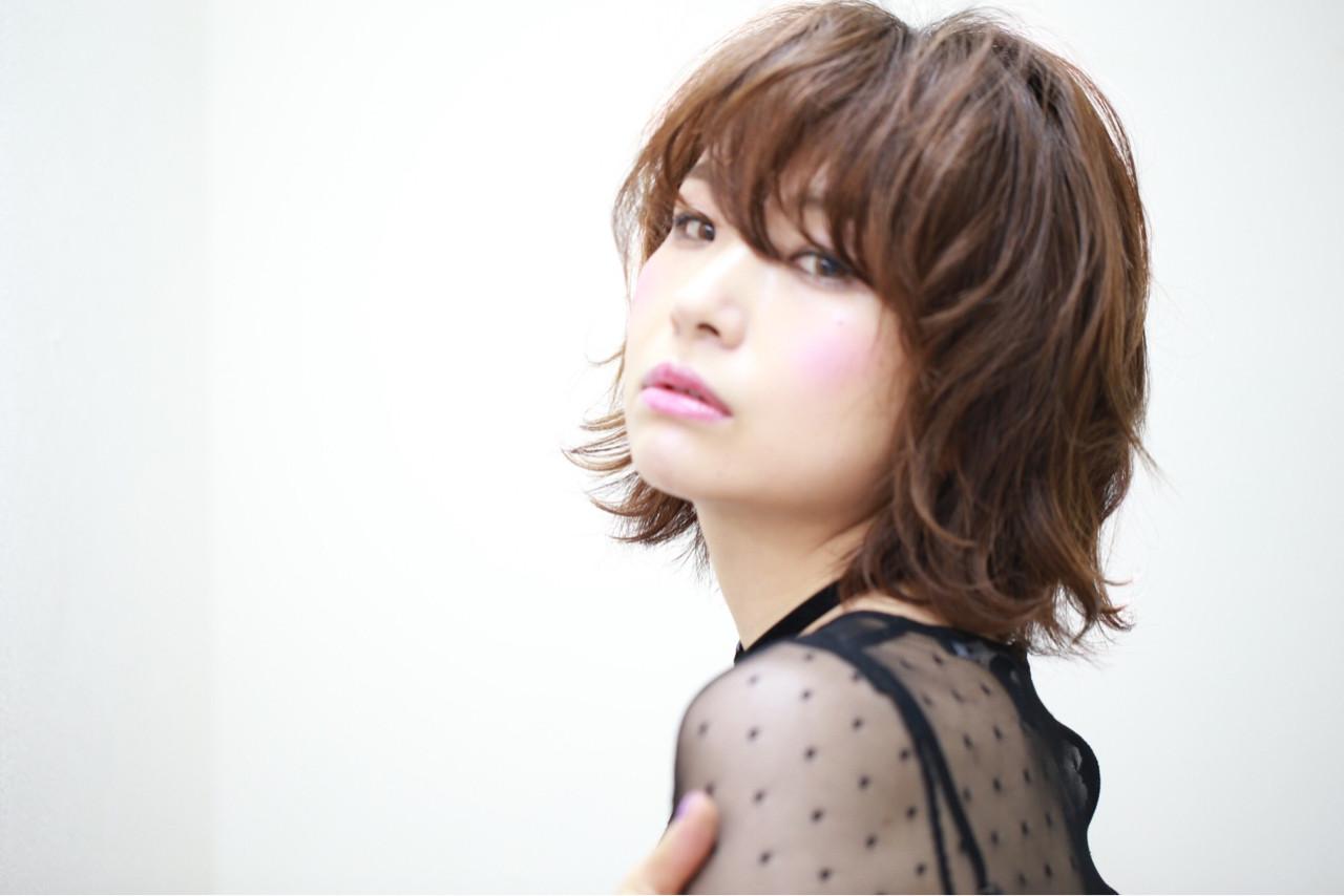 色気 ナチュラル ボブ 大人女子 ヘアスタイルや髪型の写真・画像 | AI /