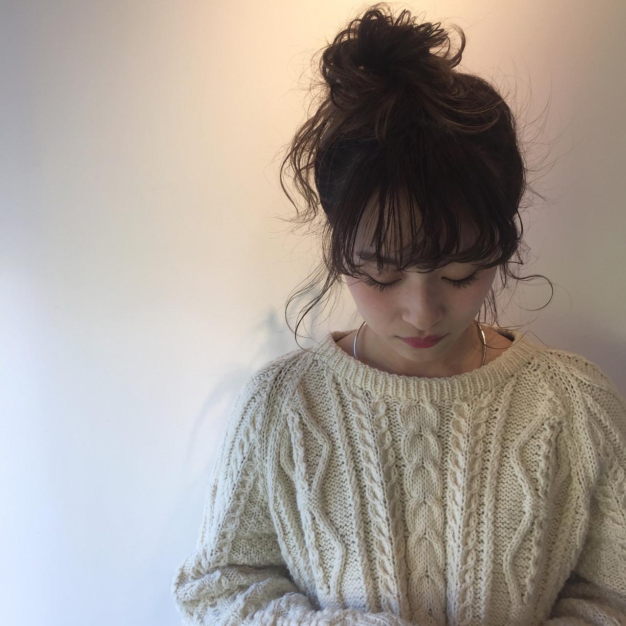 ヘアアレンジ 大人女子 ナチュラル ミディアム ヘアスタイルや髪型の写真・画像   佐々木拓巳 / GARDEN harajuku