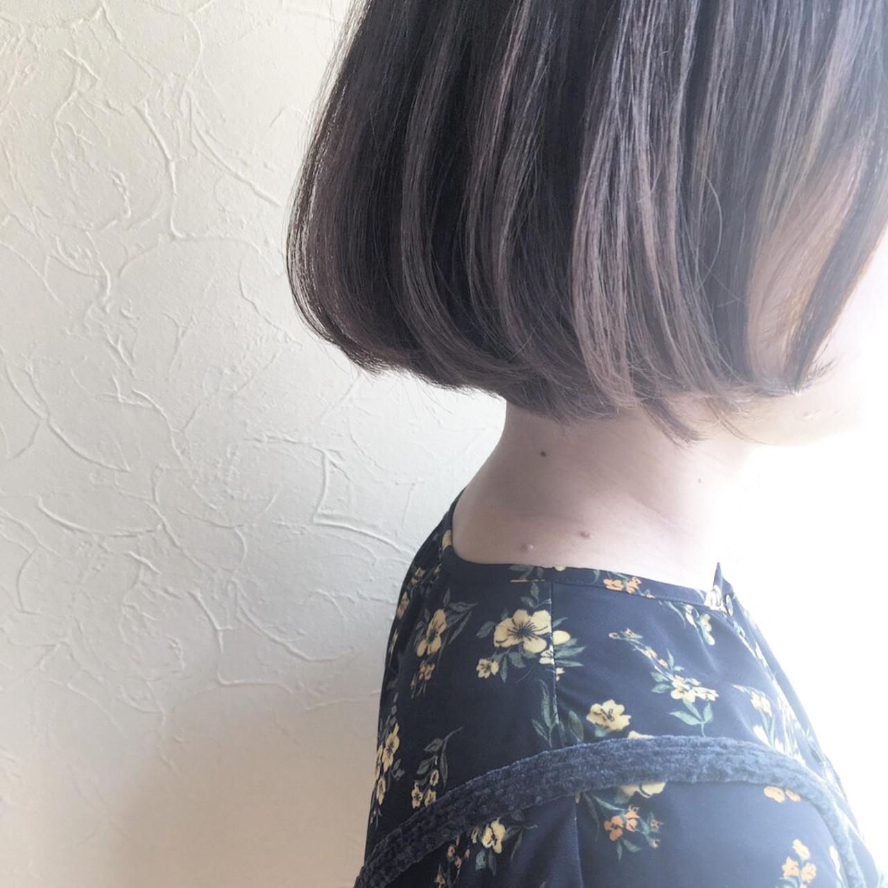 ボブヘアー デート ナチュラル ボブ ヘアスタイルや髪型の写真・画像   宮川 美香 / ant'ten