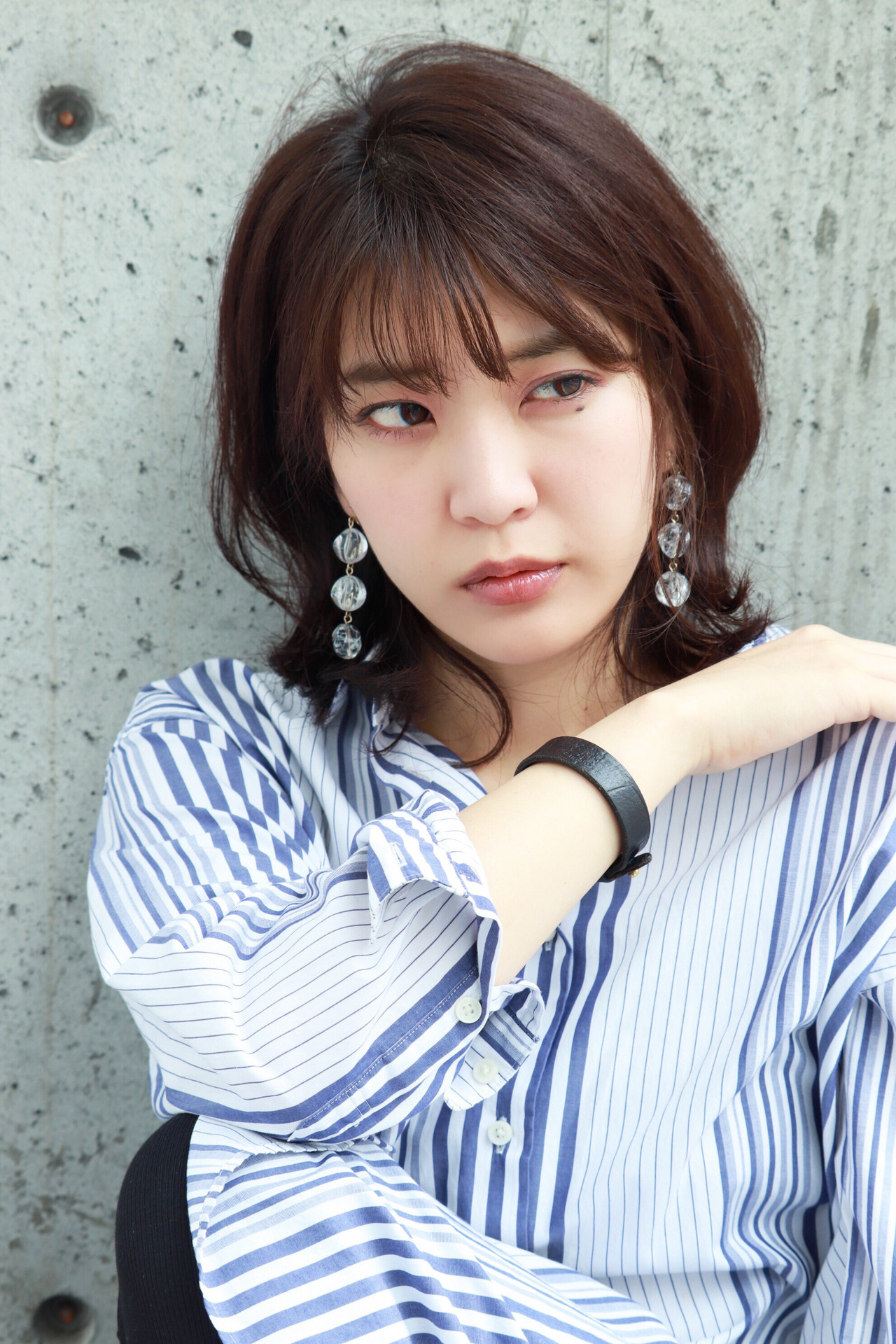 ナチュラル パーマ ミディアム デート ヘアスタイルや髪型の写真・画像 | Kenta Ushirono / growth