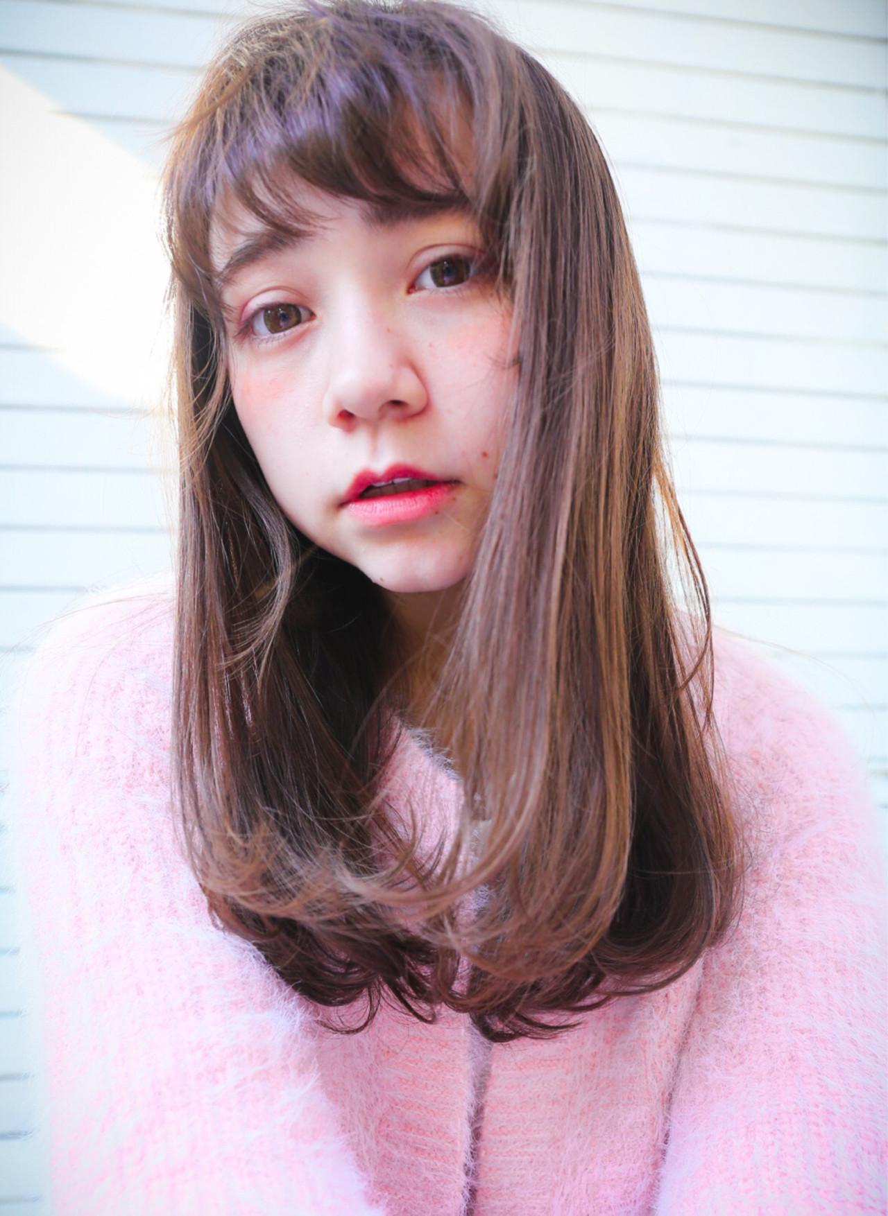 ピュア 前髪あり ガーリー モテ髪 ヘアスタイルや髪型の写真・画像 | 橋本 泰宜 / AWESOME / AWESOME