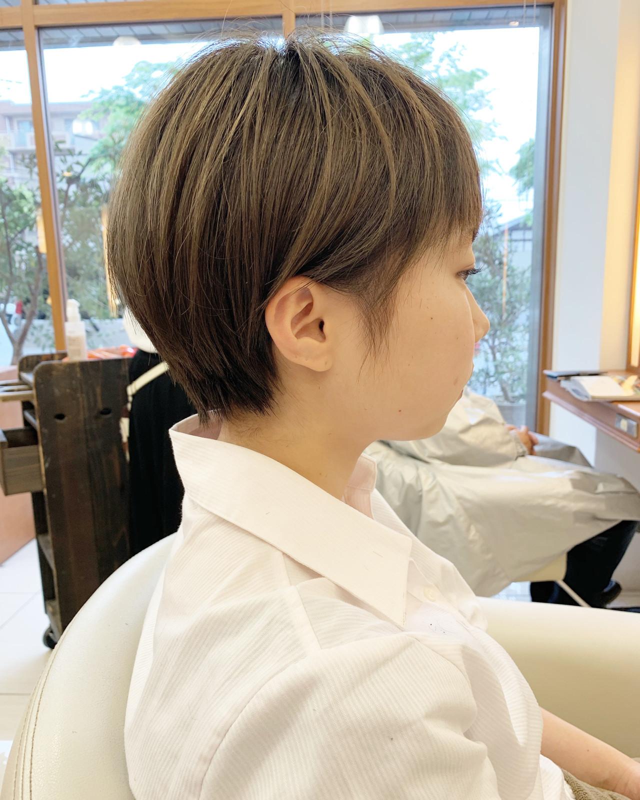 ふんわりショート  可愛い ハンサムショートヘアスタイルや髪型の写真・画像