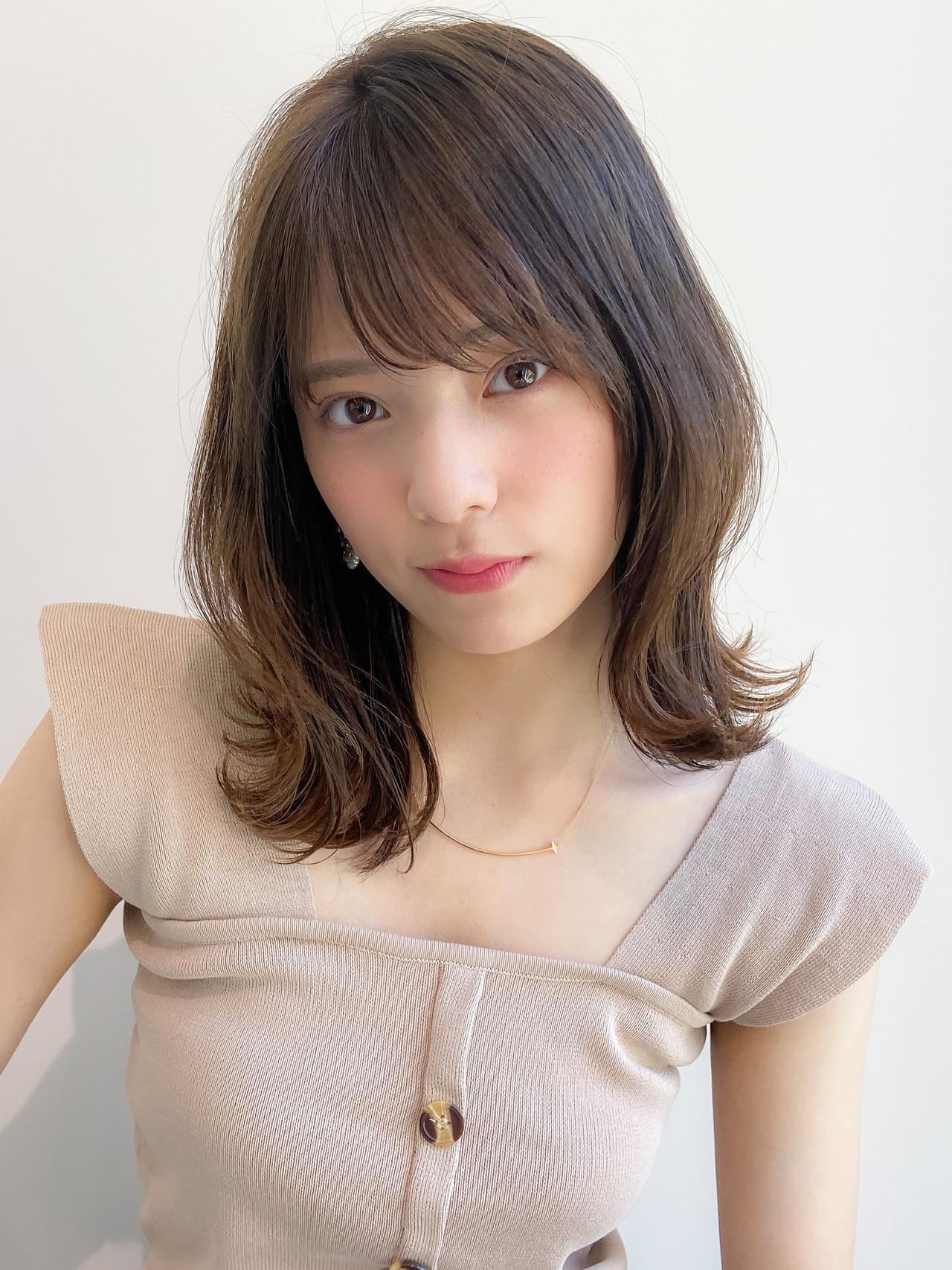 モテ髪 大人可愛い デジタルパーマ アンニュイほつれヘア ヘアスタイルや髪型の写真・画像