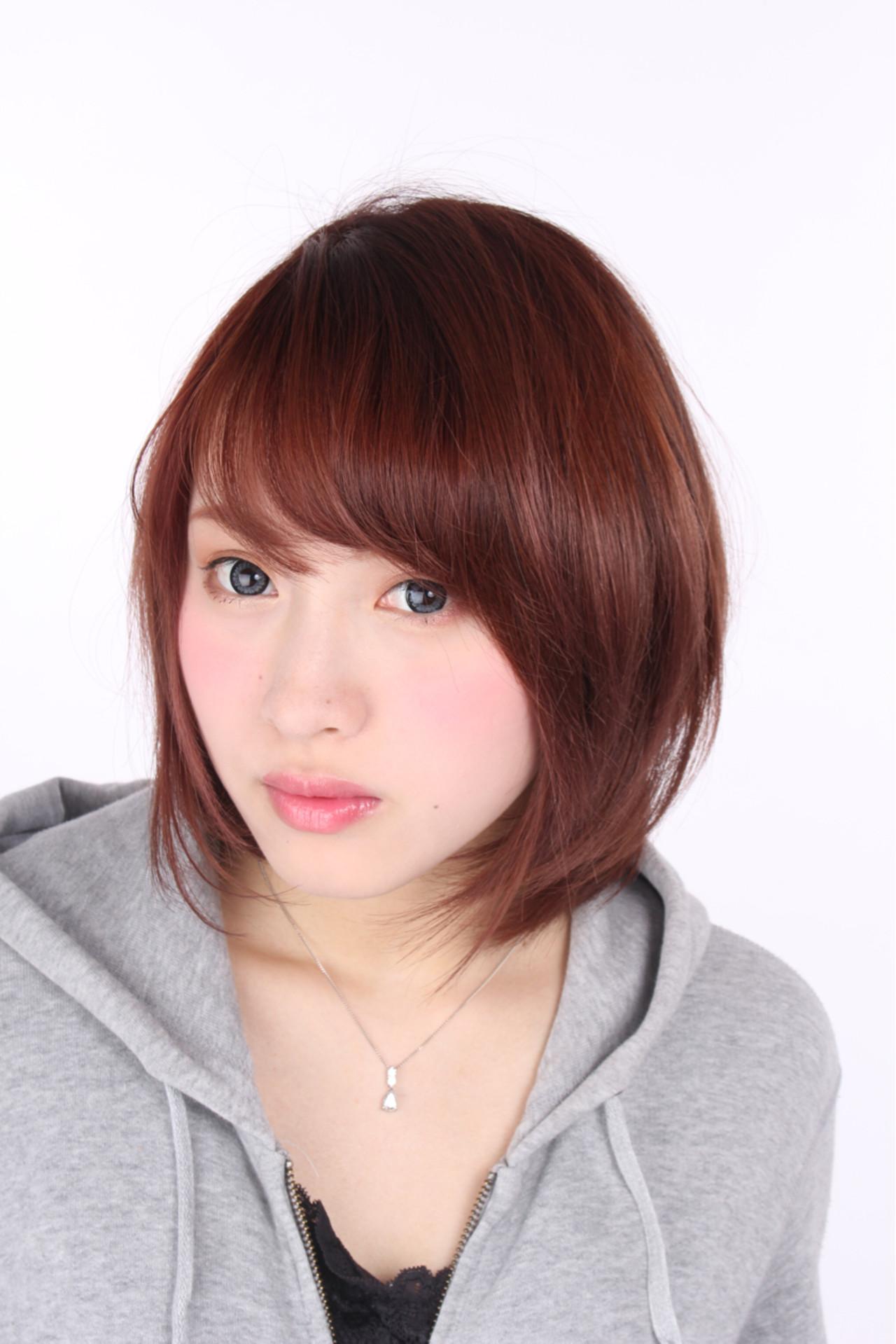 ストリート レイヤーカット ボブ 渋谷系ヘアスタイルや髪型の写真・画像
