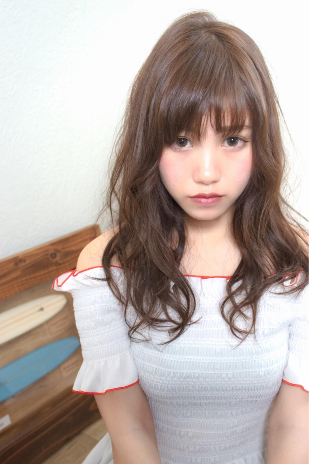 ゆるふわ 外国人風 ロング フェミニン ヘアスタイルや髪型の写真・画像 | ♡きちゃき♡ /