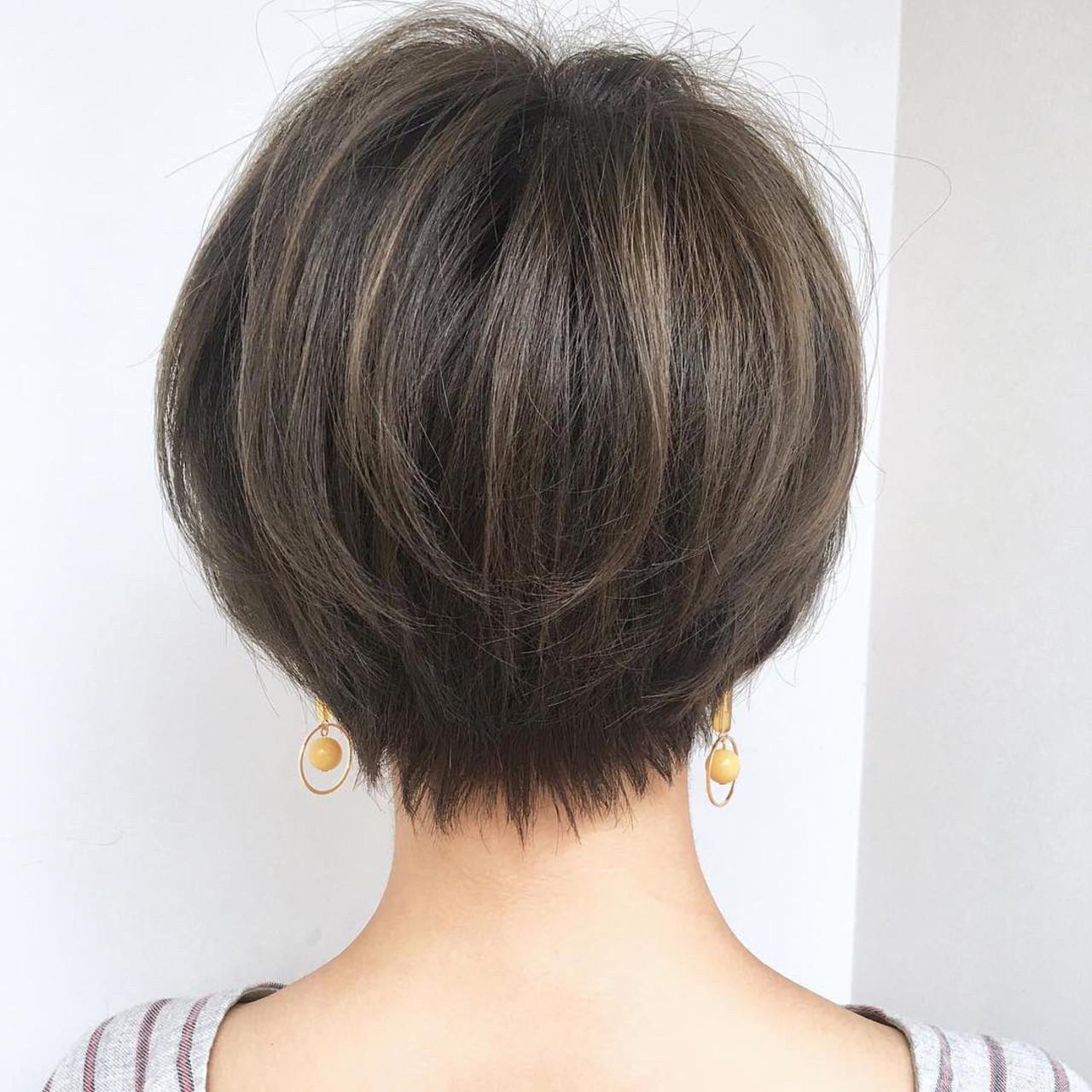 オフィス ショート スポーツ デート ヘアスタイルや髪型の写真・画像 | ショートボブの匠【 山内大成 】『i.hair』 / 『 i. 』 omotesando