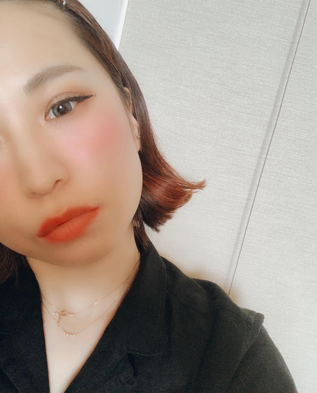 簡単ヘアアレンジ 切りっぱなしボブ ボブ ガーリー ヘアスタイルや髪型の写真・画像 | minori..miyauchi /