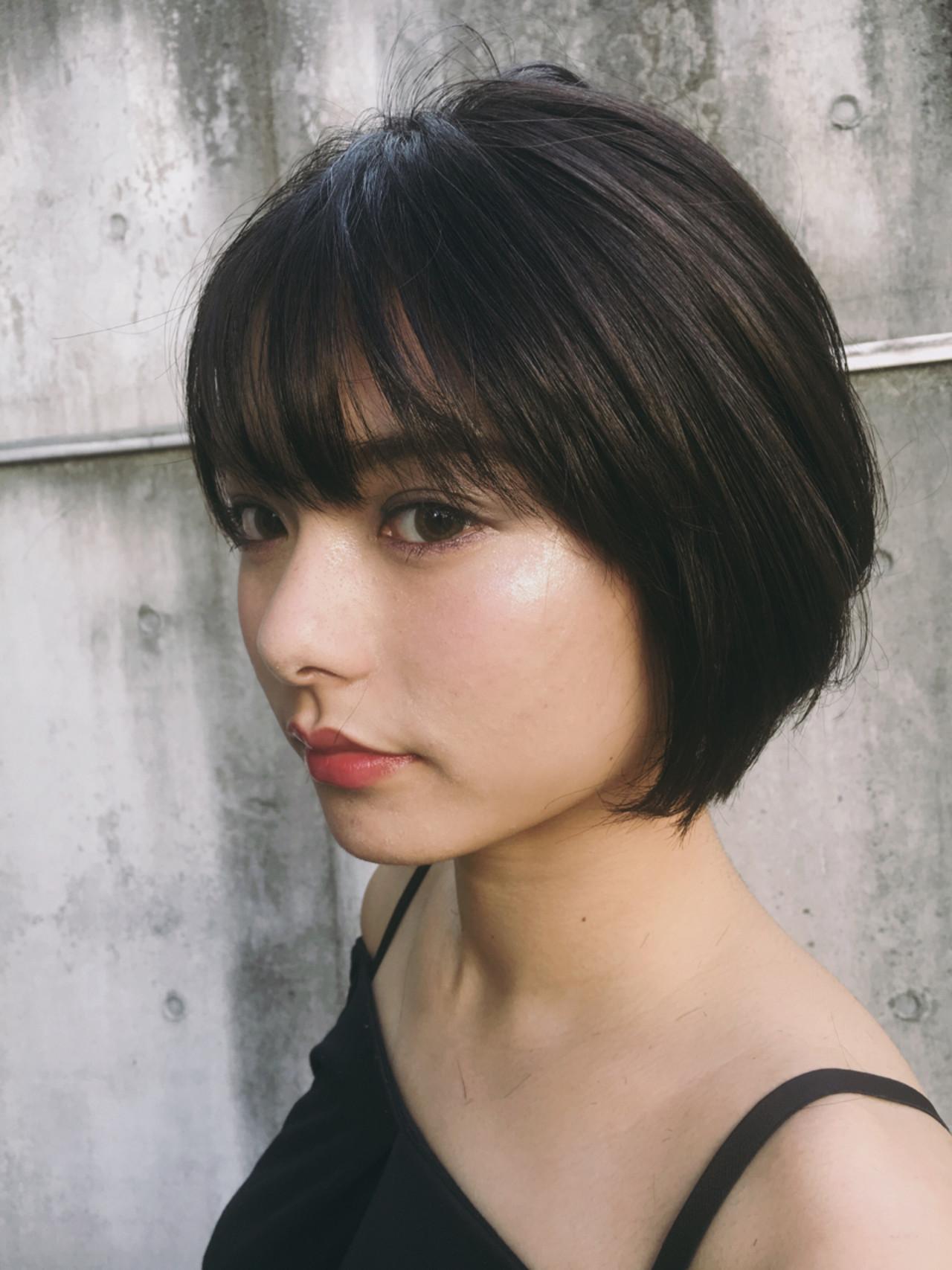 小顔 こなれ感 大人かわいい ショートヘアスタイルや髪型の写真・画像