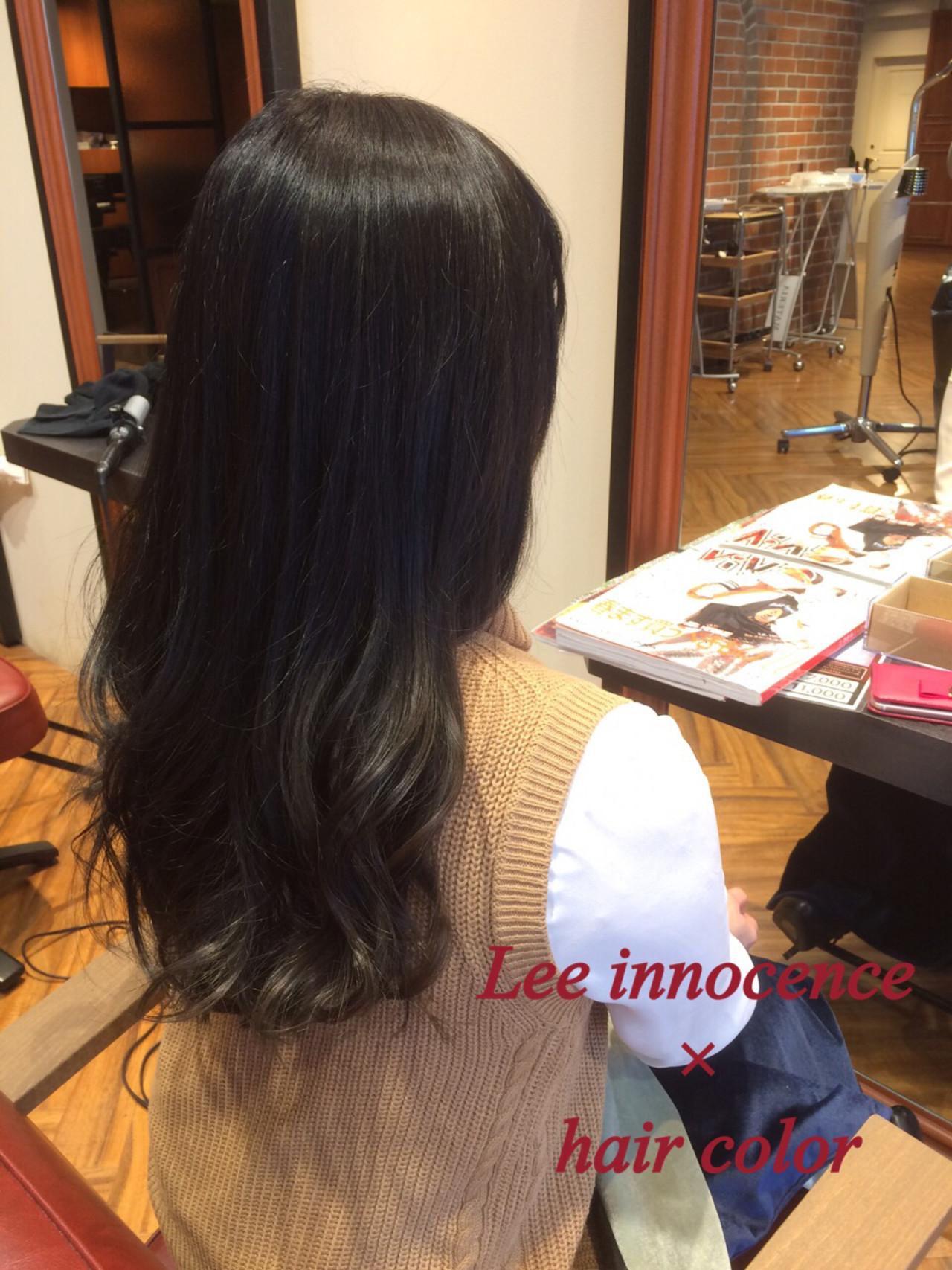ロング ナチュラル アッシュ 外国人風 ヘアスタイルや髪型の写真・画像 | Lee innocence 宮本伸一(shin) / Lee innocence 西宮北口店