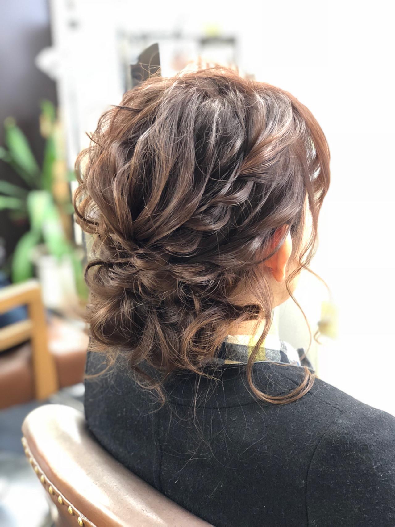 結婚式 かわいい ゆるふわ フェミニンヘアスタイルや髪型の写真・画像