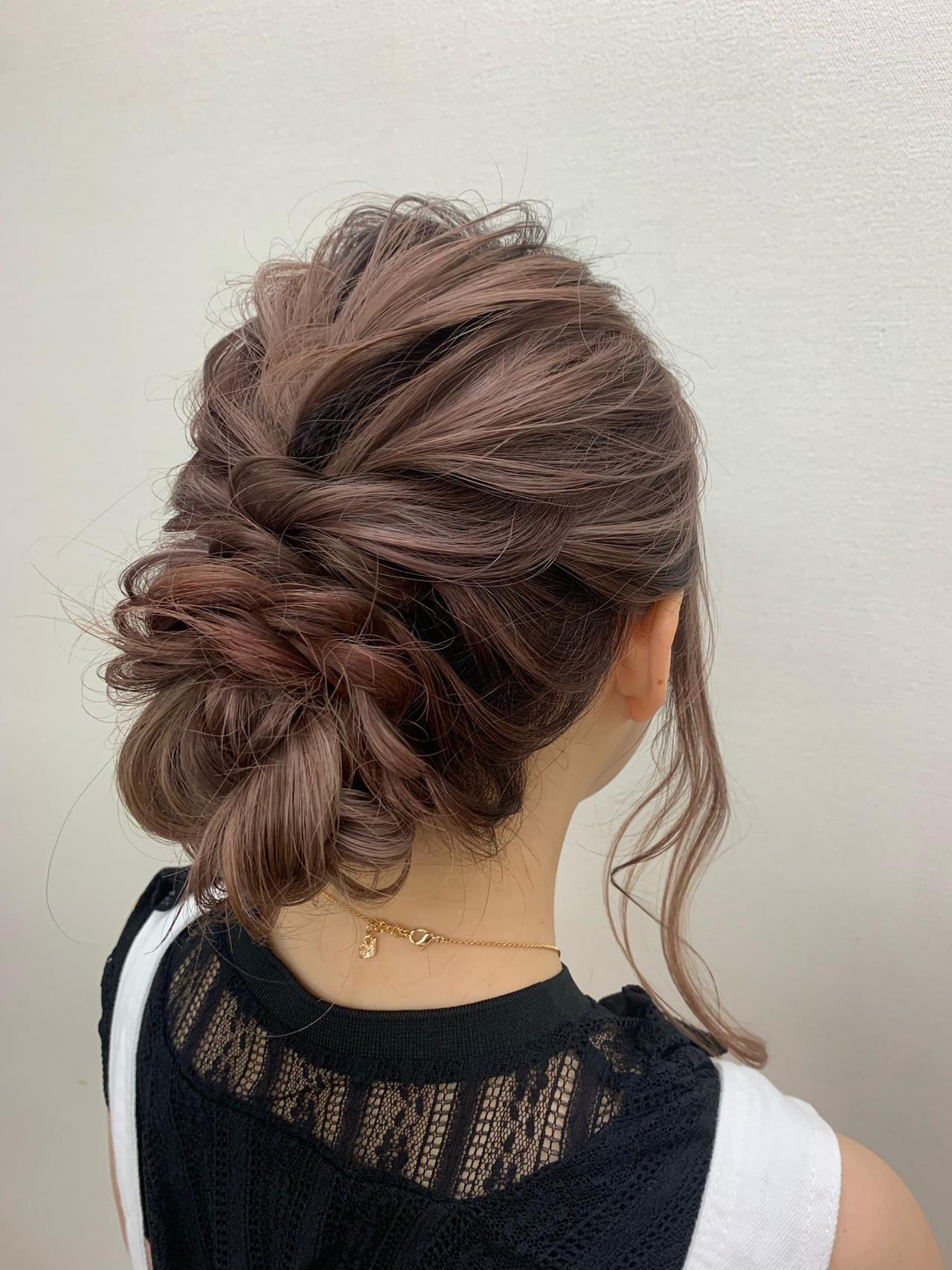 ヘアセット アップスタイル 結婚式ヘアアレンジ ロング ヘアスタイルや髪型の写真・画像 | 榎本流行 / soin de brace 上新庄店