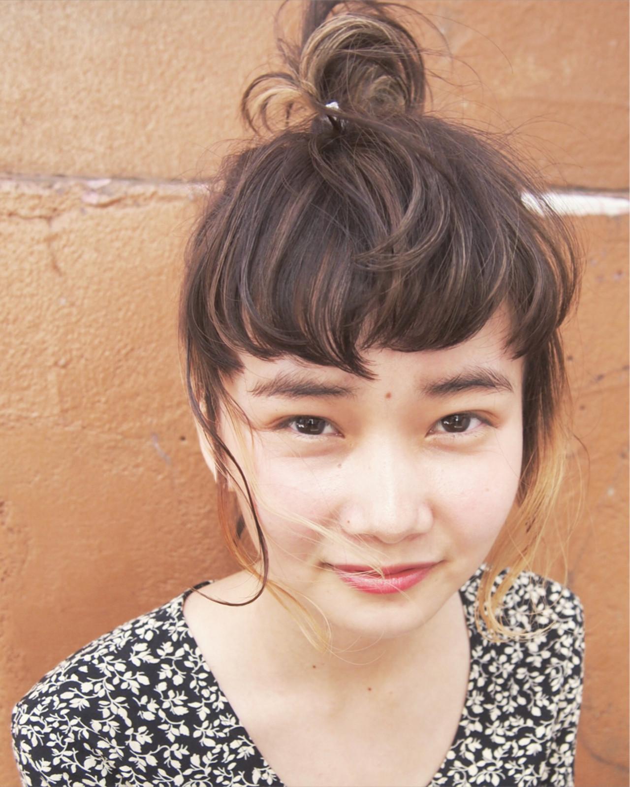 簡単ヘアアレンジ ショート 前髪あり ヘアアレンジ ヘアスタイルや髪型の写真・画像   UEKI/nanuk / nanuk二子玉川