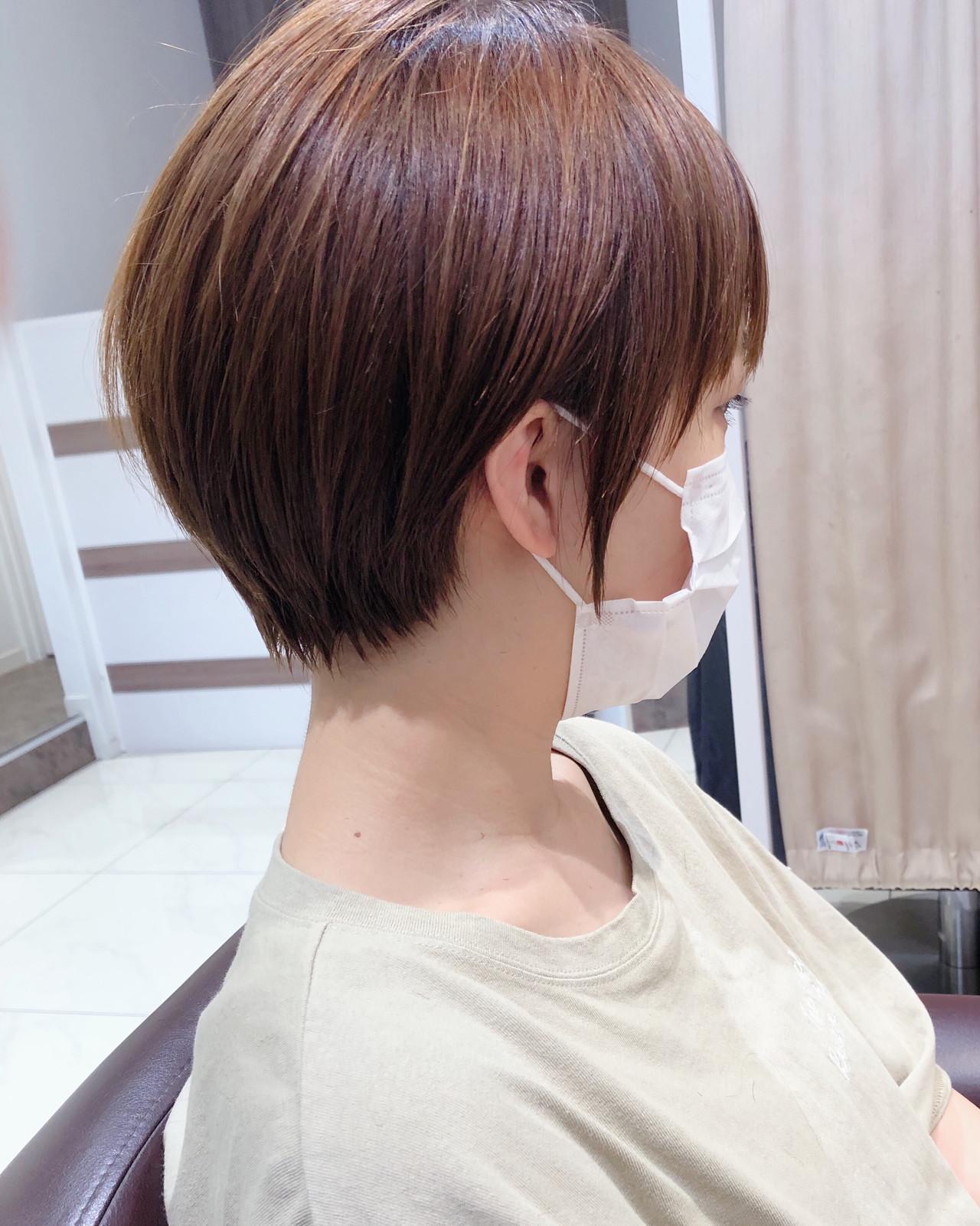 ナチュラル ミニボブ ショートボブ ショートヘア ヘアスタイルや髪型の写真・画像 | 木村 直継 / Ash 東戸塚
