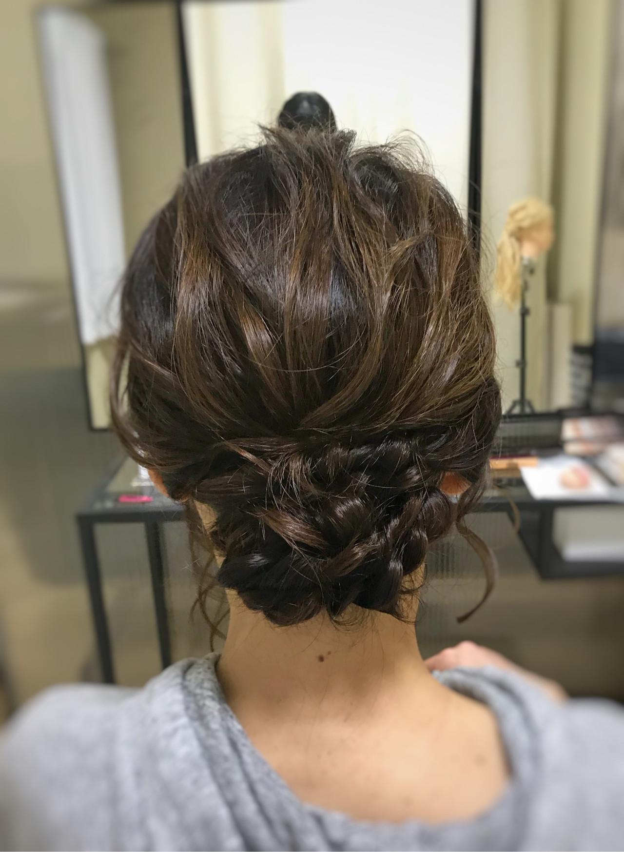 お呼ばれヘア ミディアム 結婚式 パーティヘアヘアスタイルや髪型の写真・画像