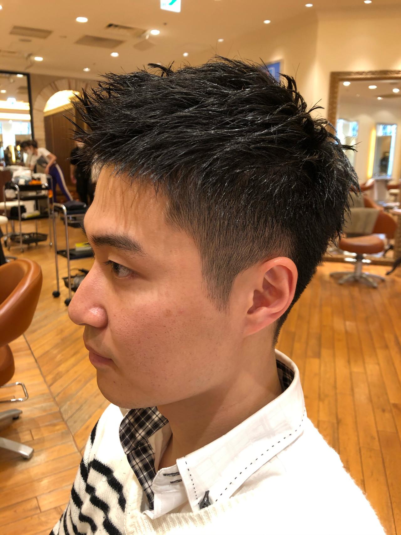 爽やか 刈り上げ ナチュラル メンズヘアスタイルや髪型の写真・画像