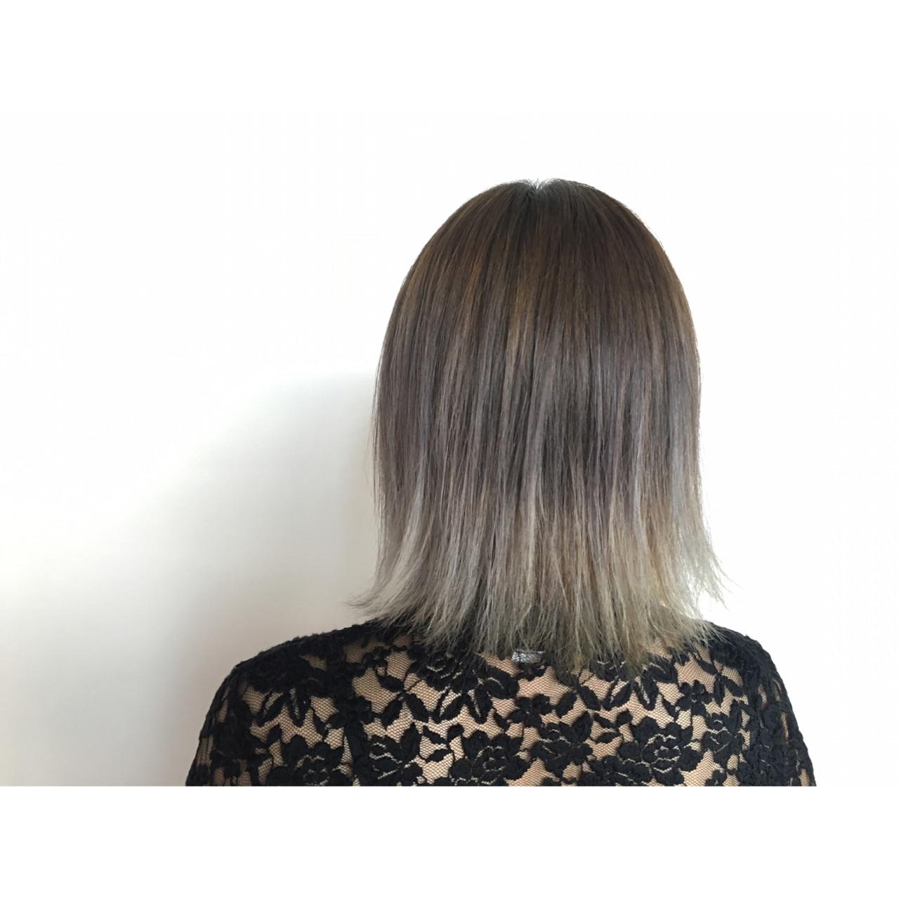 外国人風 ボブ グラデーションカラー ガーリー ヘアスタイルや髪型の写真・画像 | 廣田 崇明 / FLOWERS