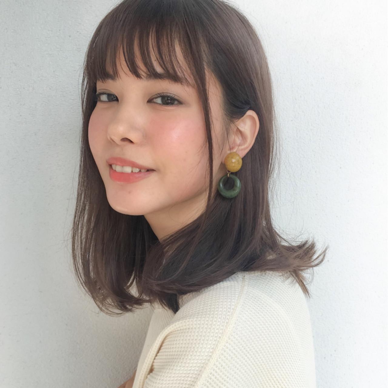 ボブ ミディアム ナチュラル ストレート ヘアスタイルや髪型の写真・画像 | lora.garden 細田真吾 / lora.garden
