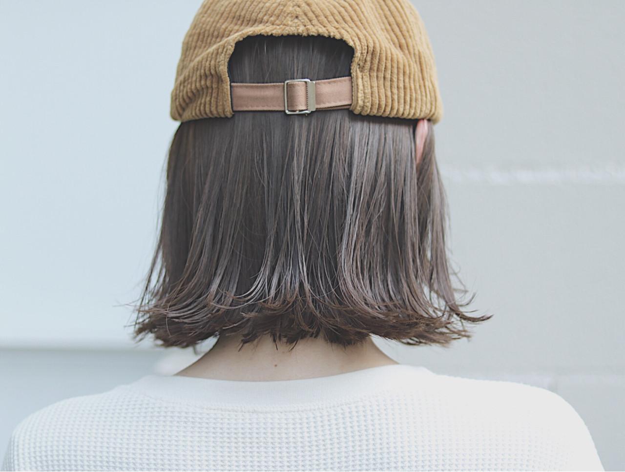 オルチャン ボブ ナチュラル 切りっぱなし ヘアスタイルや髪型の写真・画像   首藤慎吾 / free-lance