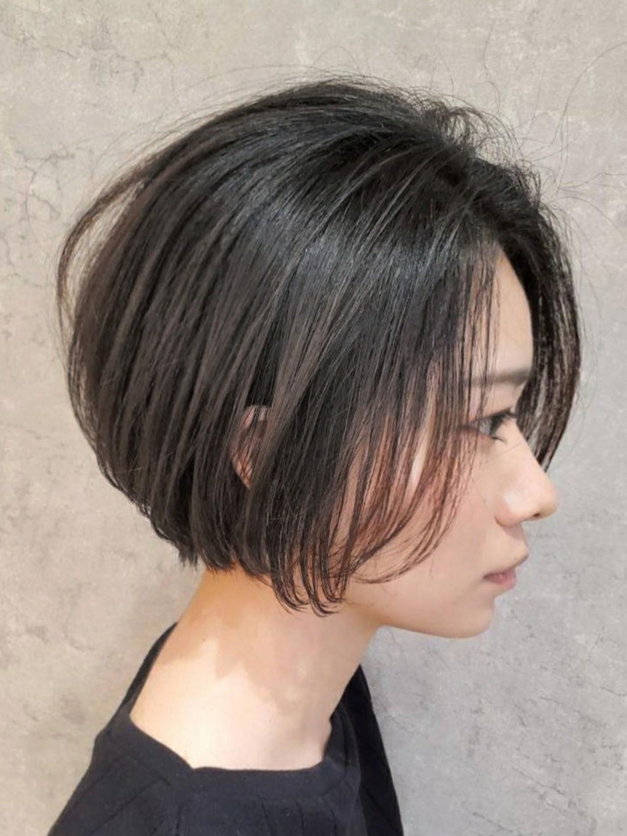 ナチュラル インナーカラー ボブ ショートヘアヘアスタイルや髪型の写真・画像