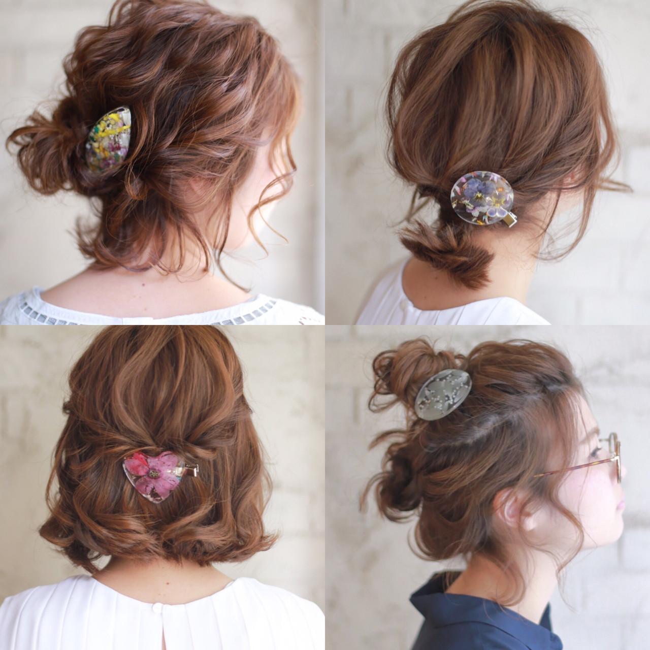 ボブ ゆるふわ 簡単ヘアアレンジ ショート ヘアスタイルや髪型の写真・画像 | 谷本将太 nalu hair / nalu hair  (ナルーヘアー)