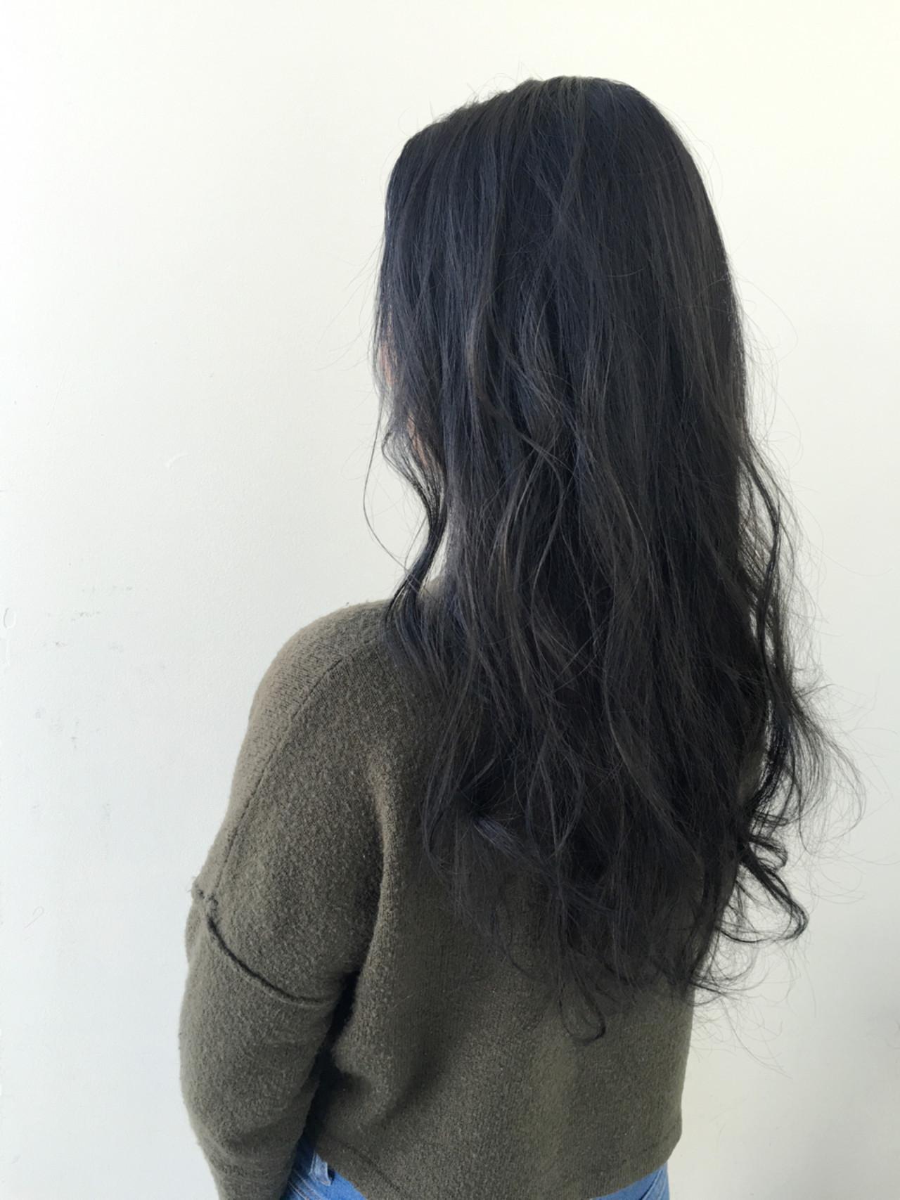 ゆるふわ アッシュ ロング ストリート ヘアスタイルや髪型の写真・画像   北村 亮 / LAiLY by GARDEN