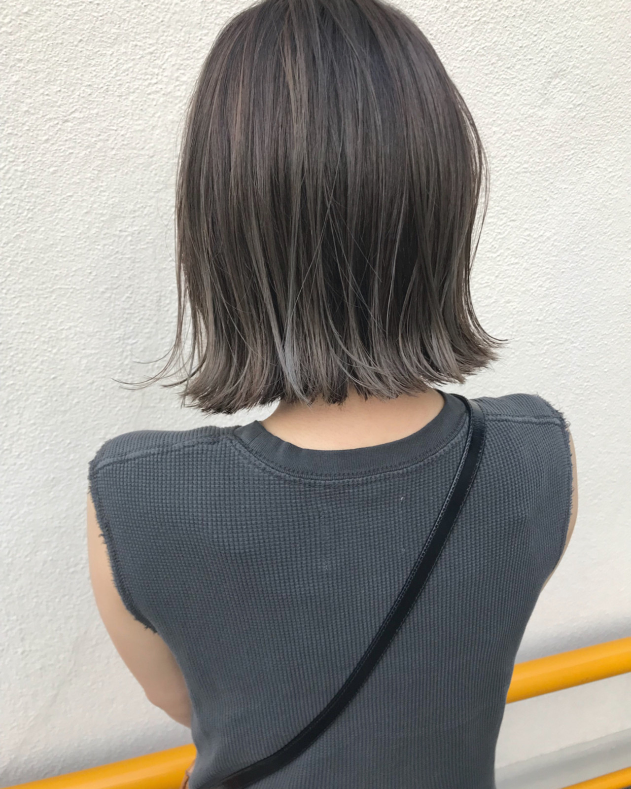 ロブ ボブ 切りっぱなし 外ハネ ヘアスタイルや髪型の写真・画像   KENTO.NOESALON / NOE SALON