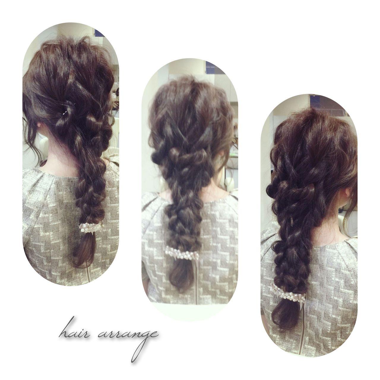 編み込み くるりんぱ ロング ゆるふわ ヘアスタイルや髪型の写真・画像 | takashi cawamura / HAIR & MAKE•UP TAXI
