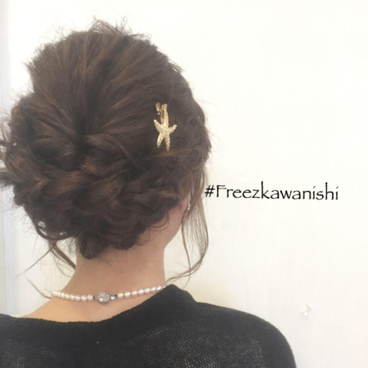 編み込み ヘアアレンジ コンサバ 結婚式ヘアスタイルや髪型の写真・画像