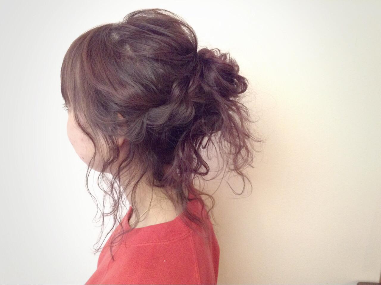 ヘアアレンジ ポニーテール フェミニン ラフ ヘアスタイルや髪型の写真・画像   山田大貴 / throb / throb by reve
