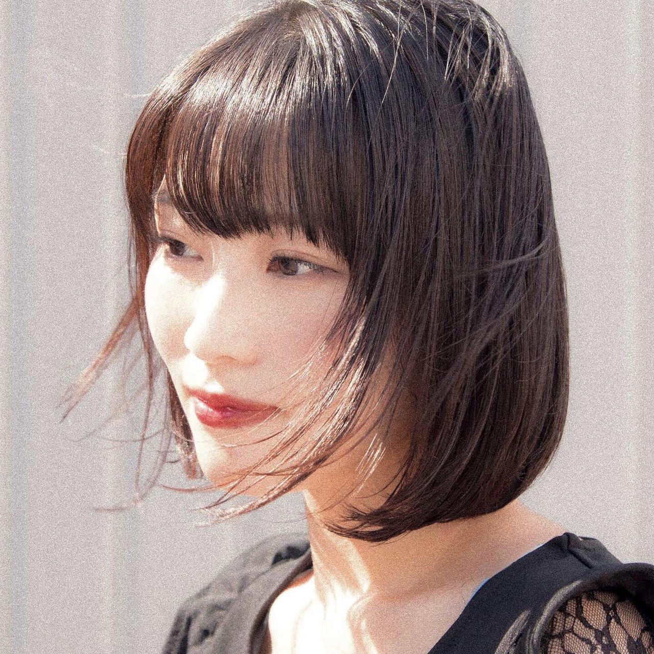 ミニボブ 前下がりボブ モテボブ ショートボブ ヘアスタイルや髪型の写真・画像   ニシモリ ショウヘイ / 583koyomi