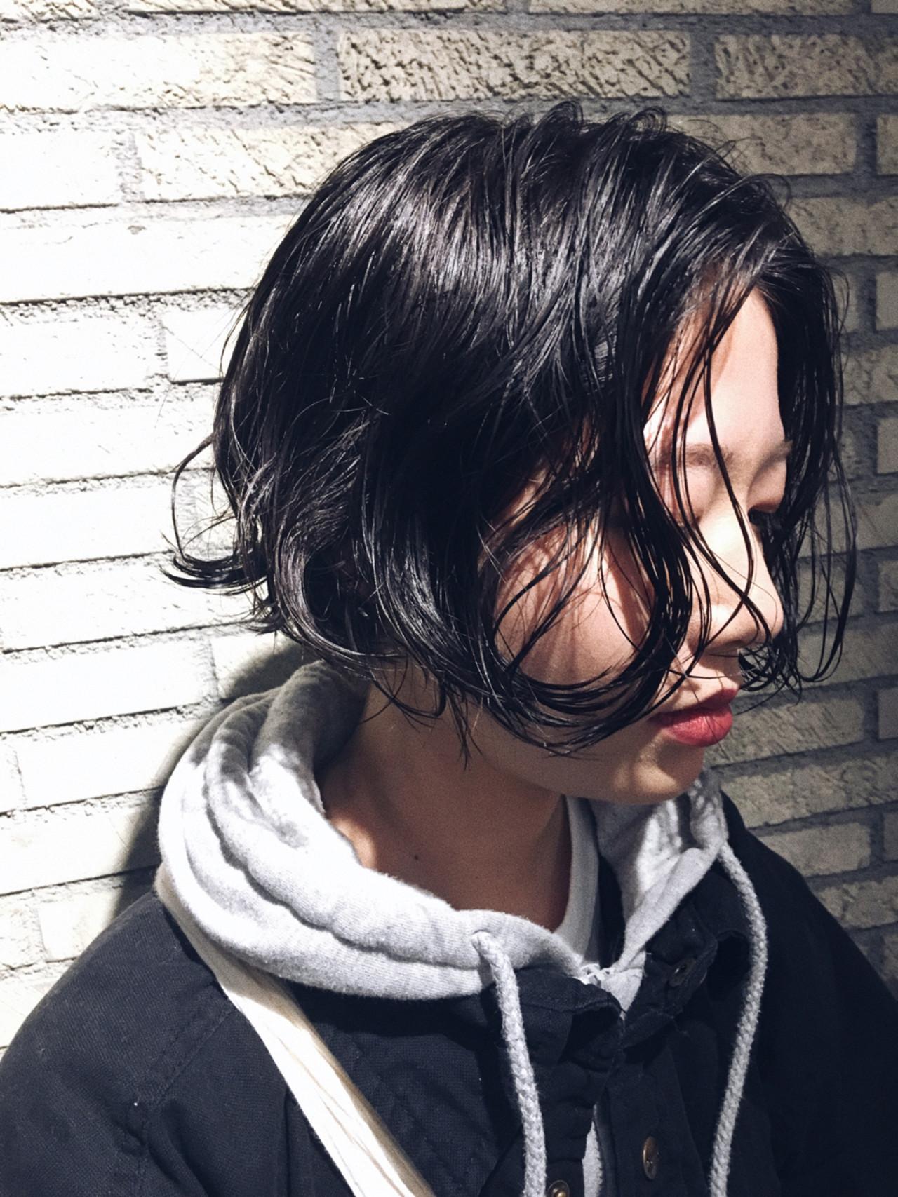 似合わせ ストリート マッシュ 小顔ヘアスタイルや髪型の写真・画像