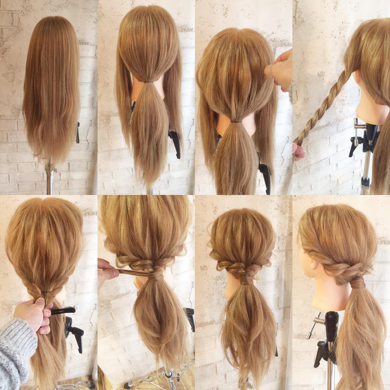 ゆるふわ ポニーテール ヘアアレンジ 簡単ヘアアレンジヘアスタイルや髪型の写真・画像