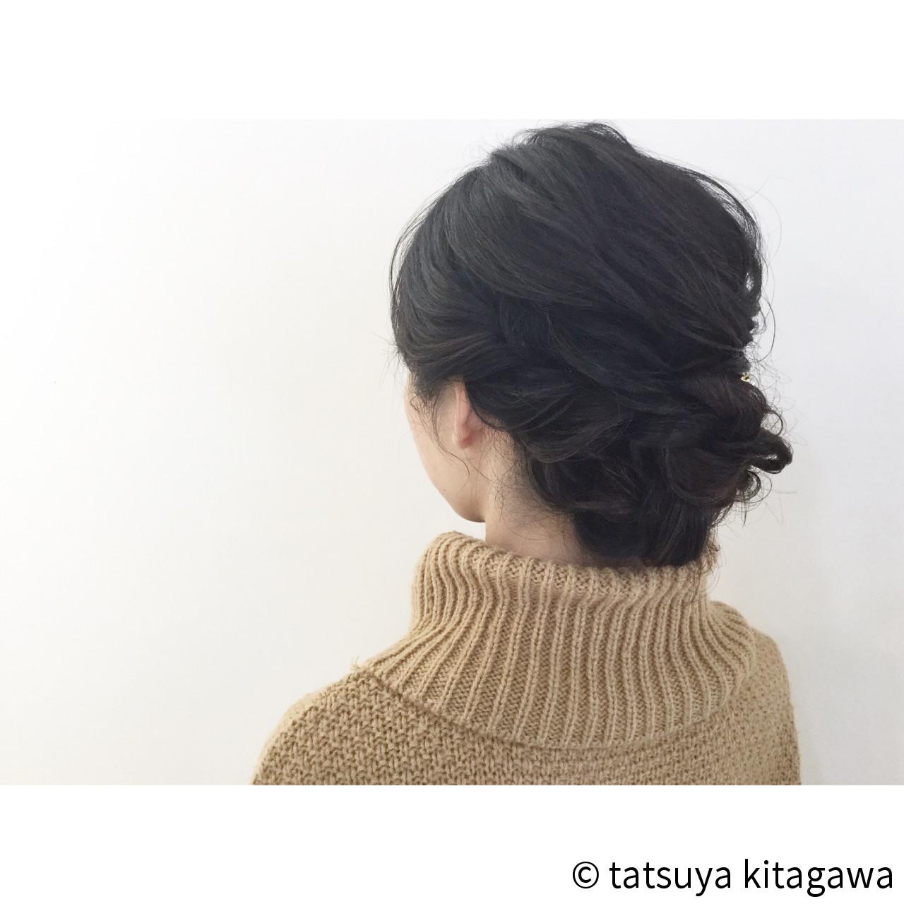 結婚式 花嫁 ゆるふわ 黒髪 ヘアスタイルや髪型の写真・画像 | tatsuya kitagawa / clarity 京都駅前本店