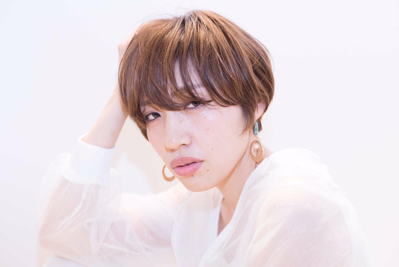 愛され 似合わせ ショート かっこいい ヘアスタイルや髪型の写真・画像   yuunn /