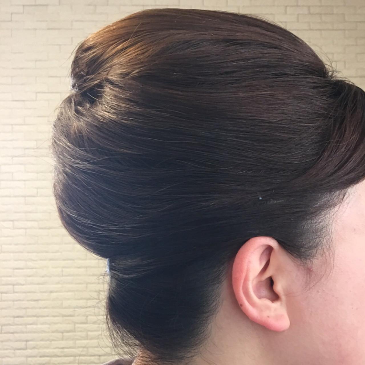 ミディアム エレガント 和装髪型 卒業式 ヘアスタイルや髪型の写真・画像 | okunaka / wabisabi~和美咲魅~