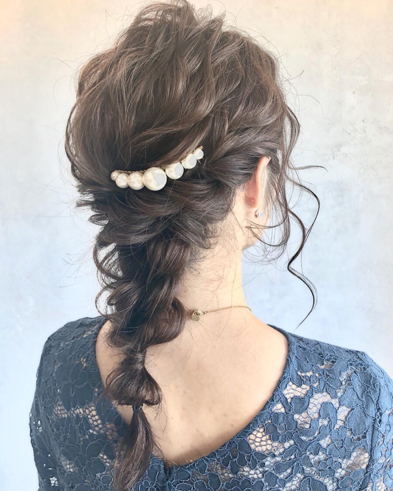 ゆるふわ ロング ヘアアレンジ ナチュラルヘアスタイルや髪型の写真・画像