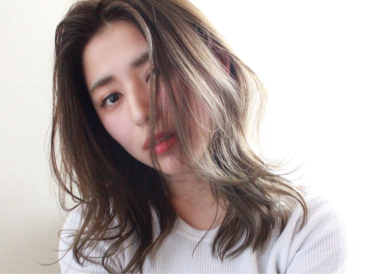 セミロング 前髪あり 透明感 ナチュラル ヘアスタイルや髪型の写真・画像   三木 康平 / the BRIDGE hairsalon
