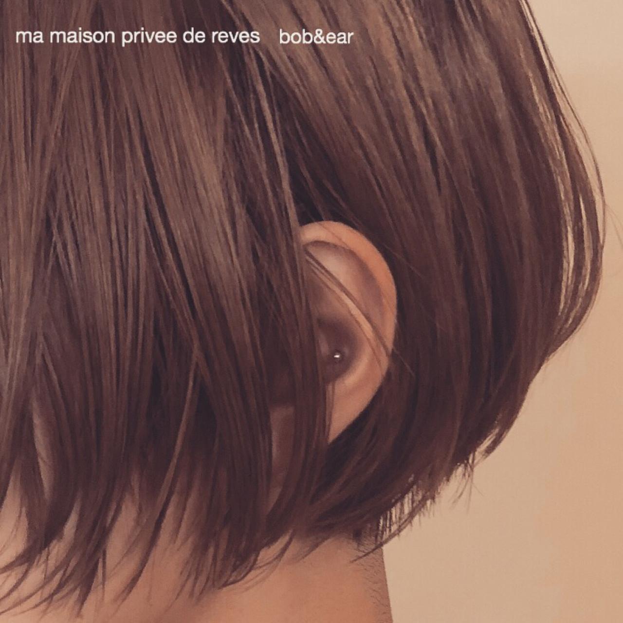 ナチュラル 色気 外国人風カラー ショート ヘアスタイルや髪型の写真・画像 | Takuo Kishi 【ma maison 】 / ma maison privee de reves