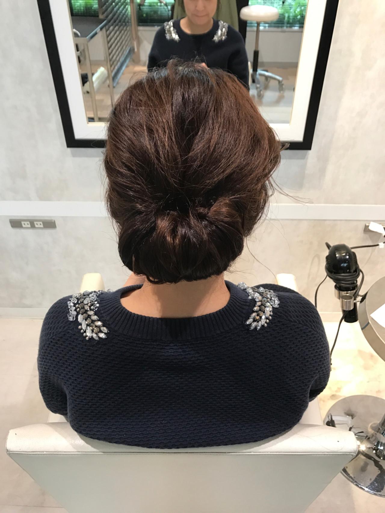 ヘアアレンジ セミロング 簡単ヘアアレンジ こなれ感 ヘアスタイルや髪型の写真・画像 | Meg/k-two AOYAMA / K-two  AOYAMA店