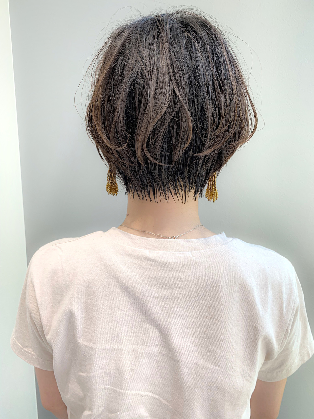 ナチュラル ショートボブ ショート 大人ショート ヘアスタイルや髪型の写真・画像 | 川原拓也 / GIEN ROUGE