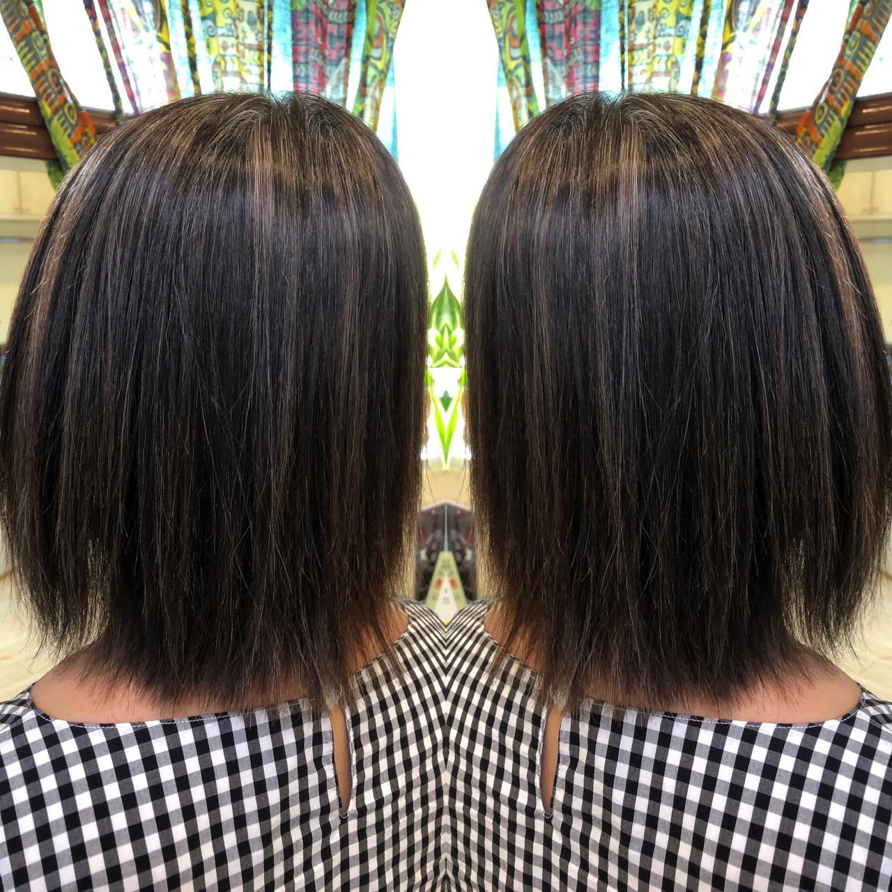 ハイライト コントラストハイライト ボブ 3Dハイライト ヘアスタイルや髪型の写真・画像 | TMe hair/tomoe chiba / TMe hair川崎小田