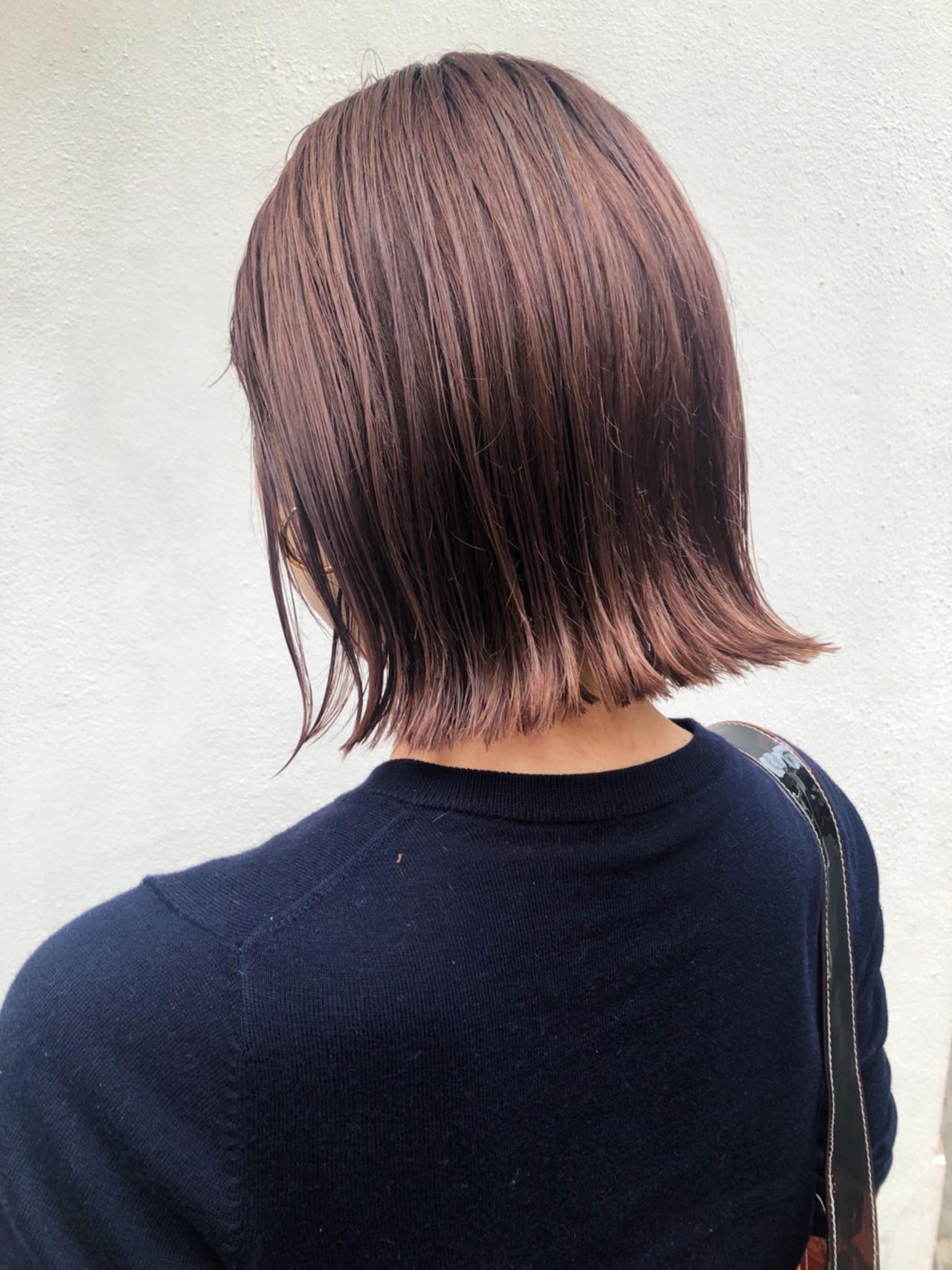ガーリー アンニュイほつれヘア 透明感 ボブ ヘアスタイルや髪型の写真・画像   サカイアカネ / EMANON freelance