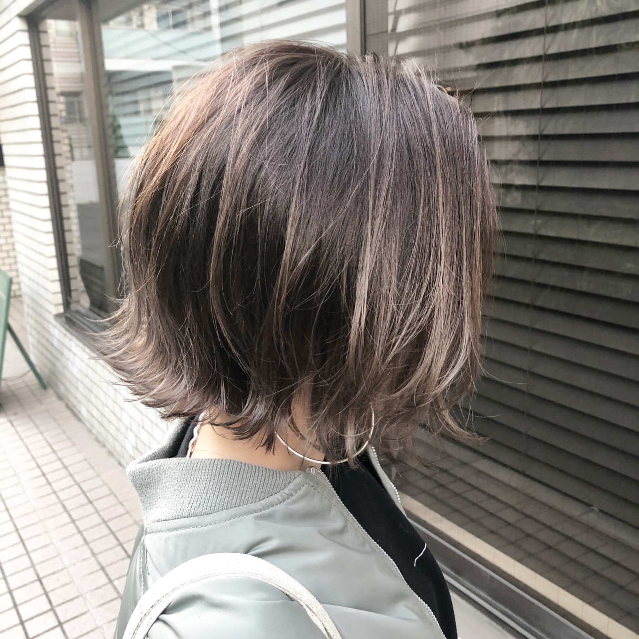 ストリート 切りっぱなしボブ 外ハネボブ ボブ ヘアスタイルや髪型の写真・画像 | 高田 興 / レジーロ