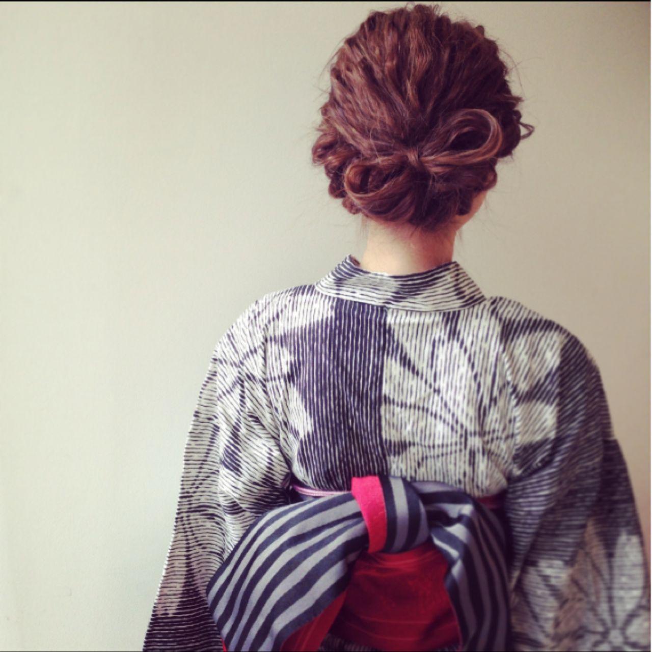 ヘアアレンジ ナチュラル 夏 アップスタイル ヘアスタイルや髪型の写真・画像 | Kaneko Mayumi / BOTTOMS