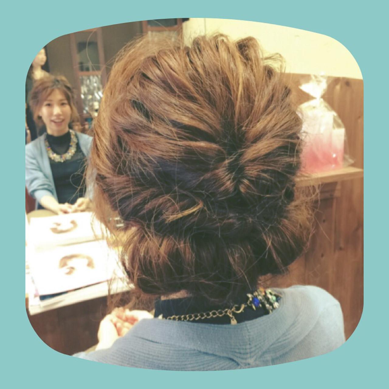 大人かわいい まとめ髪 外国人風 編み込み ヘアスタイルや髪型の写真・画像 | 中嶋 公治 / ANCHOR/ANCHOR welina