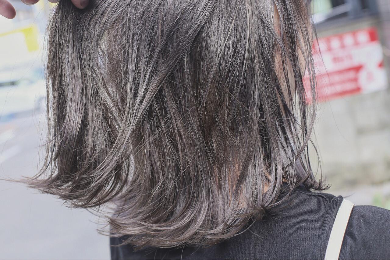 ブリーチ ダブルカラー ボブ グラデーションカラー ヘアスタイルや髪型の写真・画像 | 白石侑 / TWiGGY歩行町店