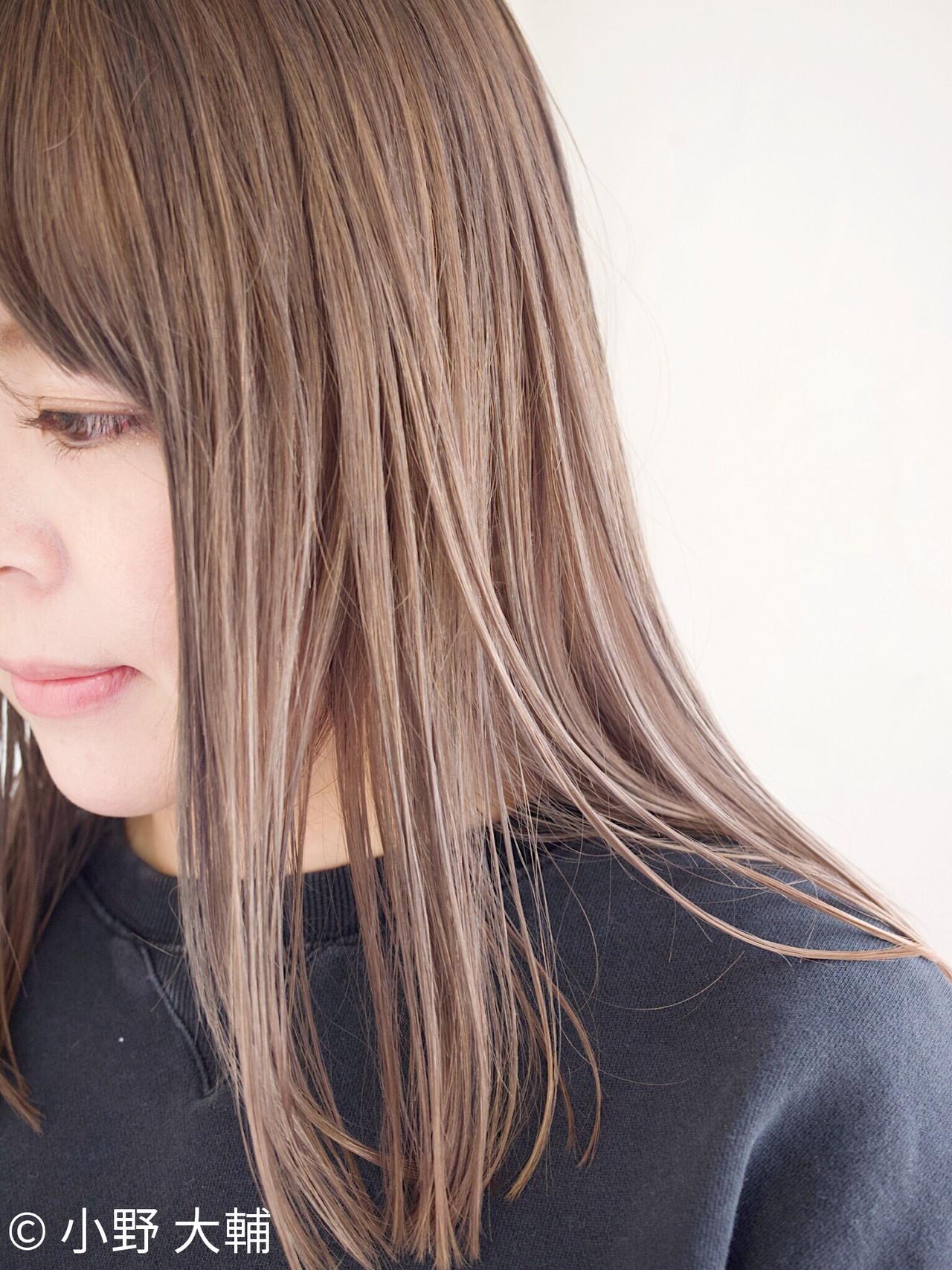 ミルクティーグレージュ ボブ グレージュ ミルクティーベージュ ヘアスタイルや髪型の写真・画像 | 小野 大輔 / OHIA  for plumeria