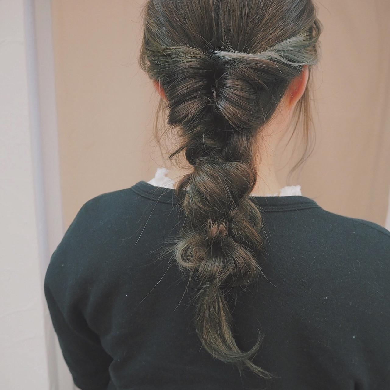 簡単ヘアアレンジ ナチュラル 編み込み ヘアアレンジ ヘアスタイルや髪型の写真・画像 | 宮迫 真美 / airfeel